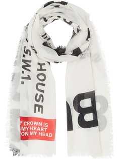 Burberry легкий шарф с принтом Horseferry