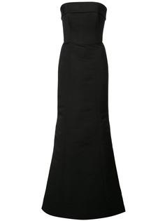 Amsale длинное вечернее платье
