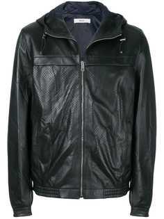 Bally куртка с капюшоном с перфорацией