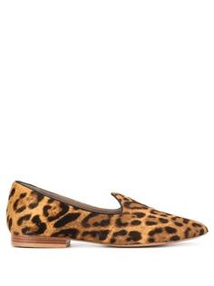 Le Monde Beryl лоферы с леопардовым принтом