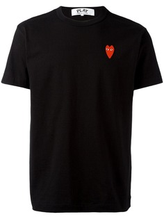 Comme Des Garçons Play футболка с логотипом в виде сердца