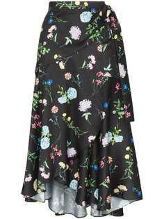 Paper London юбка миди Fresa с цветочным принтом