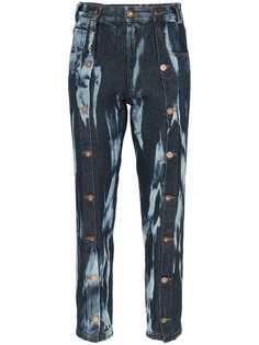 Delada джинсы прямого кроя с принтом тай-дай