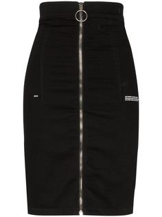 Off-White джинсовая юбка с завышенной талией