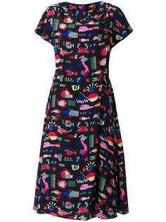 Emporio Armani платье миди с принтом