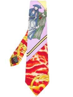 Versace Pre-Owned галстук с принтом