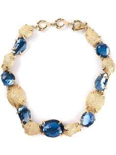 Yves Saint Laurent Pre-Owned ожерелье с кристаллами