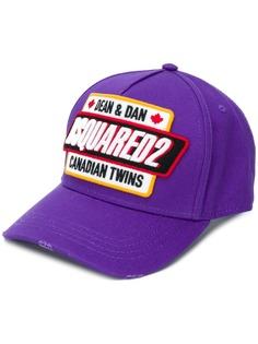 Dsquared2 кепка с нашивкой-логотипом