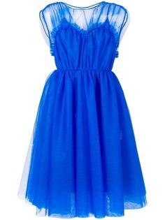 MSGM платье со вставками из тюля