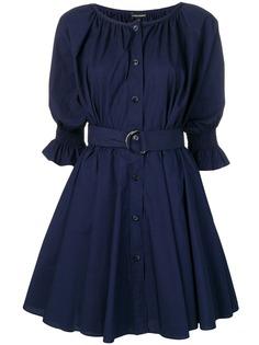 Emporio Armani платье-рубашка с поясом