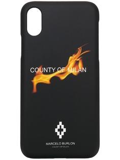 Marcelo Burlon County Of Milan чехол для iPhone X