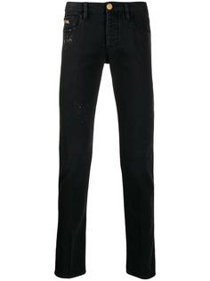 Emporio Armani джинсы прямого кроя с декоративной строчкой