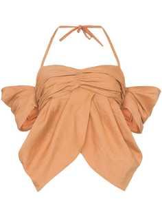 Rejina Pyo блузка с открытыми плечами и вырезом халтер