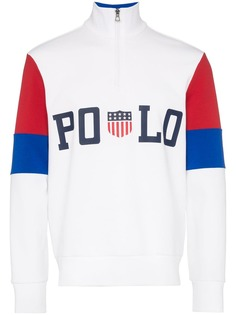 Polo Ralph Lauren рубашка-поло с длинными рукавами в стиле колор-блок