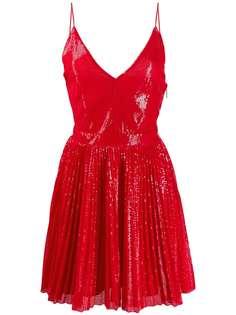 MSGM расклешенное платье с пайетками