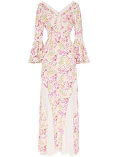 byTiMo платье макси с цветочным узором и кружевом