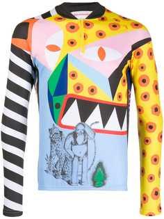 Walter Van Beirendonck Pre-Owned облегающая футболка 2015/16-х годов Explicit Beauty с длинными рукавами