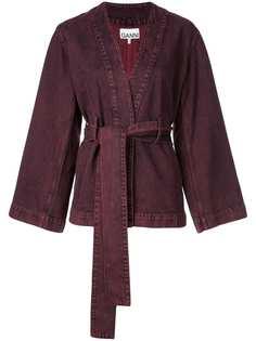 Ganni куртка свободного кроя с поясом