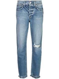 Trave Denim джинсы высокой посадки с эффектом потертости