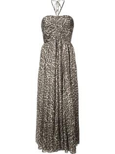 Zimmermann платье миди с леопардовым принтом