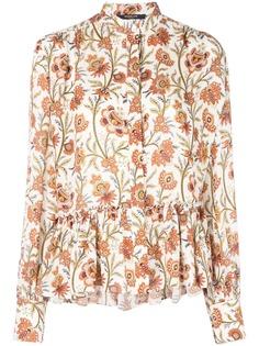 Derek Lam блузка с длинными рукавами и цветочным принтом