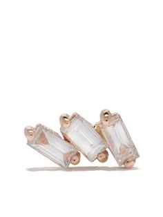 Kismet By Milka золотая серьга-гвоздик Baguette с бриллиантами