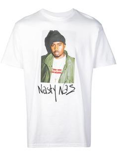 Supreme футболка с принтом Nasty Nas