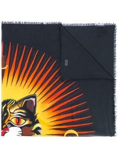Gucci платок с принтом Angry Cat
