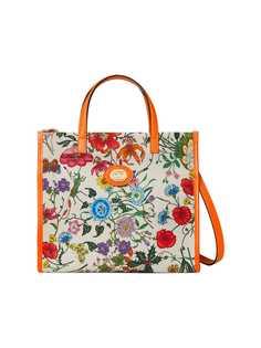 Gucci сумка-тоут среднего размера с принтом Flora