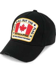 Dsquared2 бейсбольная кепка с заплаткой с канадским флагом