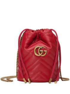 Gucci сумка-мешок GG Marmont размера мини