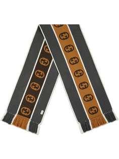 Gucci шарф в полоску с логотипом Interlocking G