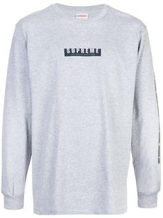 Supreme футболка с длинными рукавами и логотипом