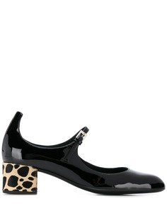 Giuseppe Zanotti туфли на каблуке с леопардовым принтом