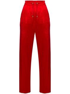 Balmain велюровые брюки прямого кроя