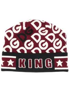 Dolce & Gabbana King print beanie hat