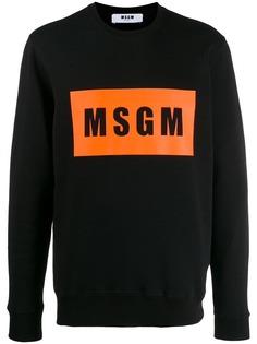 MSGM logo box print sweatshirt