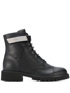 Giuseppe Zanotti ботинки в стиле милитари с ремешками