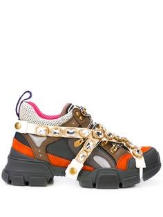 Gucci кроссовки Flashtrek с кристаллами