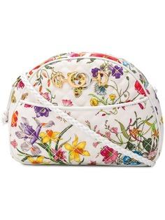 Gucci стеганая сумка через плечо с цветочным принтом