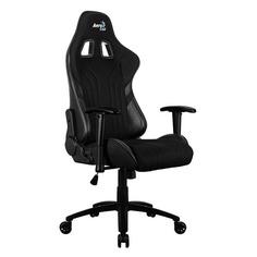 Кресло игровое AEROCOOL AERO 1 Alpha, на колесиках, ПВХ/полиуретан, черный [aero 1 alpha all black]