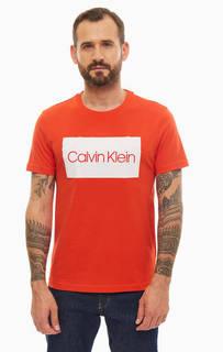 Футболка K10K103654 659 fiery red Calvin Klein