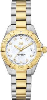 Швейцарские золотые женские часы в коллекции Aquaracer Женские часы TAG Heuer WBD1422.BB0321