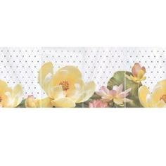 Керамическое панно Летний сад светлый из 4 частей HGD/A56/4x/8259 80х30 см Kerama Marazzi
