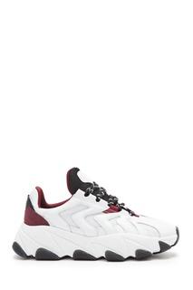 Бело-бордовые кроссовки Extreme Ash
