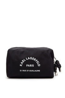 Черная косметичка с логотипом Karl Lagerfeld