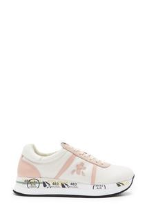 Розовые комбинированные кроссовки с глиттером Conny Premiata