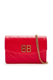 Красная сумка на цепочке BB Wallet Balenciaga