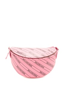 Розовая с черным поясная сумка XXS Souvenir Balenciaga