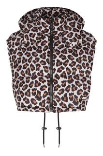 Укороченный леопардовый жилет Msgm